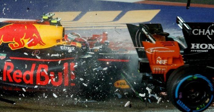 Max Verstappen blames Sebastian Vettel for dramatic Singapore collision