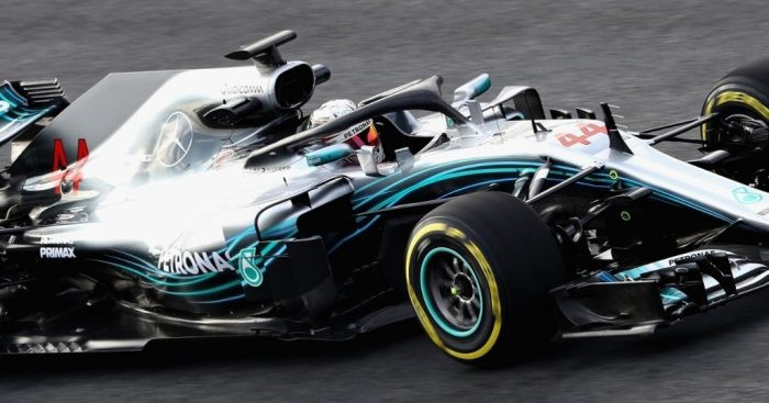 Hamilton heads final day of first Barcelona test
