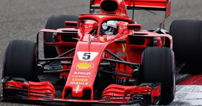 Chinese GP: Sebastian Vettel top as Lewis Hamilton struggles