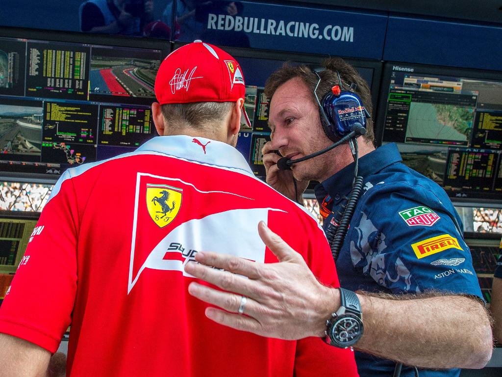 Sebastian Vettel and Christian Horner 2