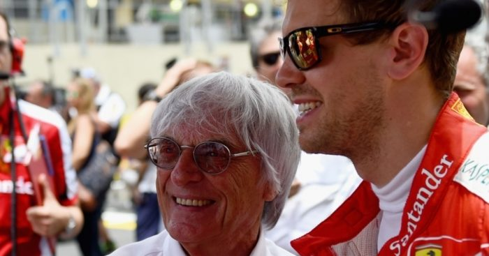 Image result for ecclestone vettel