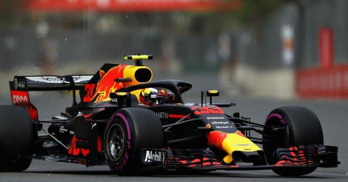 Max Verstappen in action