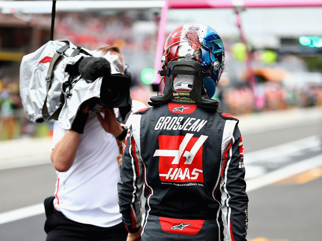 Romain Grosjean's Friday running at Silverstone is over with news that he'll miss FP2 as he requires a new chassis.