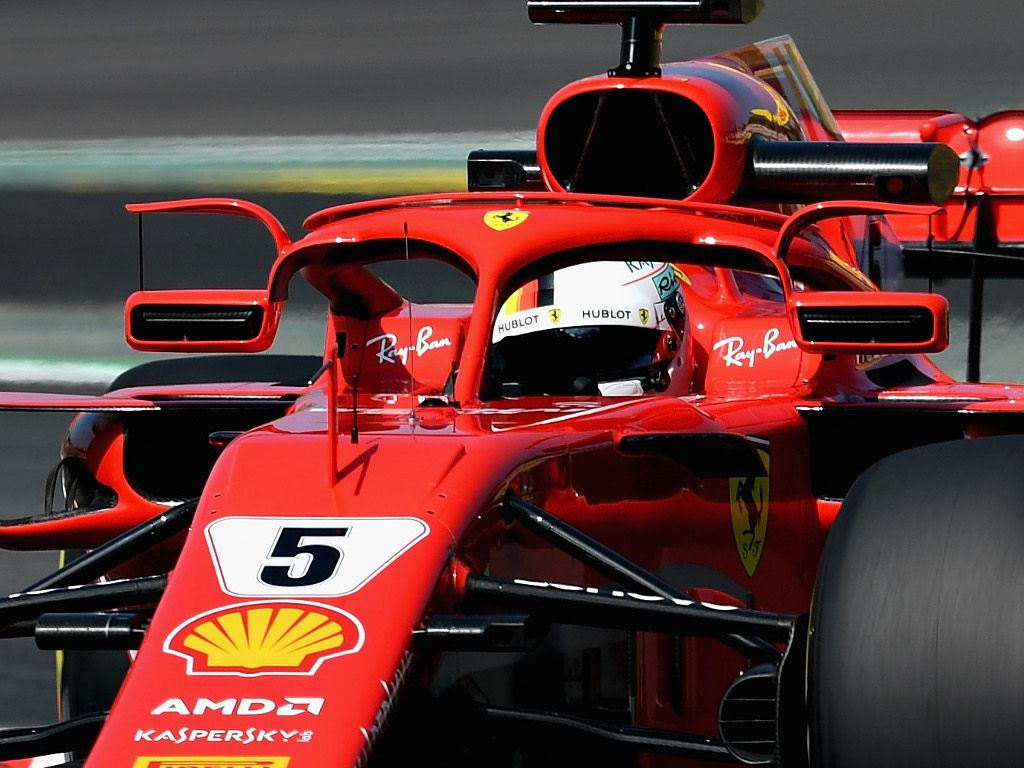 Sebastian Vettel Ferrari mirror