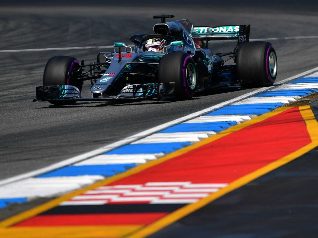 Lewis Hamilton says that the German weather is 'very demanding'