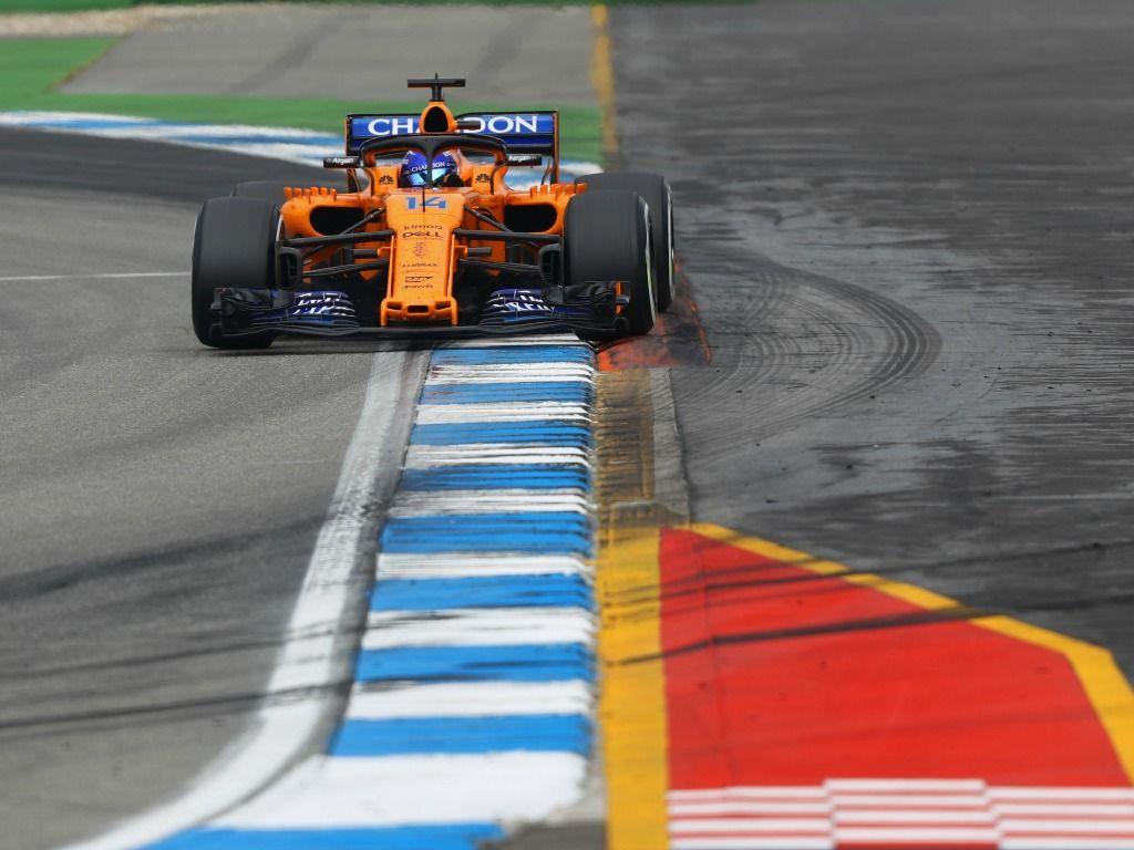 Fernando Alonso finished last at the Hockenheimring