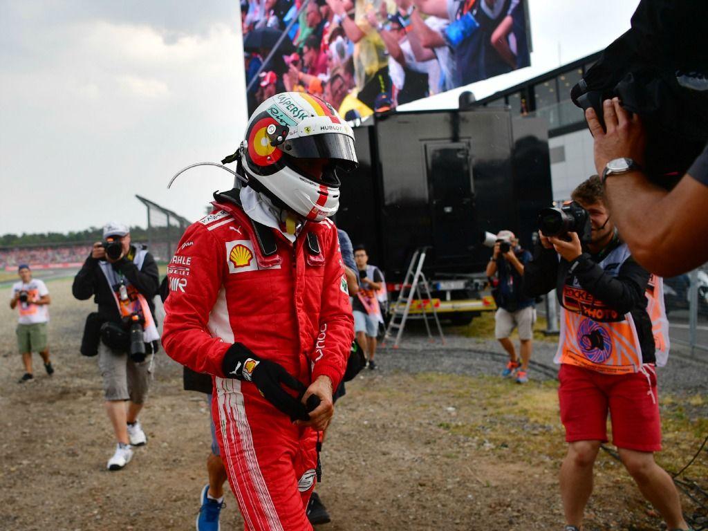 Sebastian Vettel: Crashes out in Germany