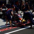 Red Bull is wheeled back into his garage