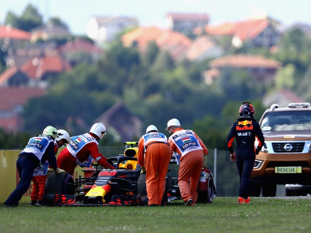 Max Verstappen out of the Hungarian Grand Prix