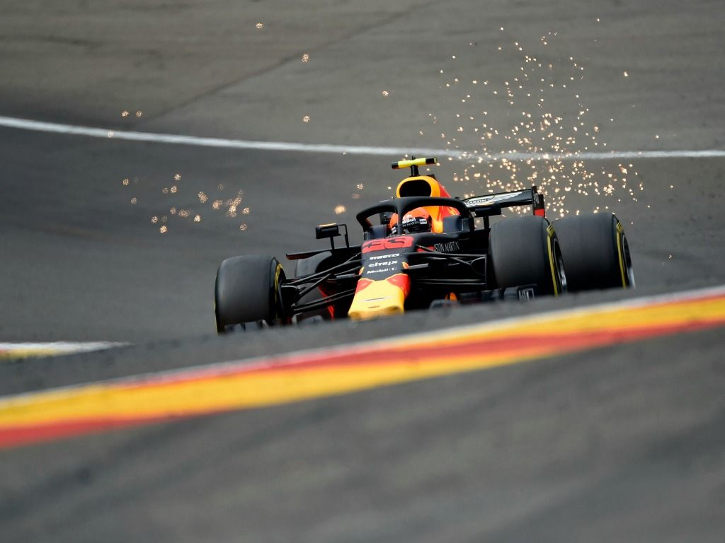 Max Verstappen goes through Eau Rouge