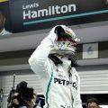 Race: Lewis Hamilton holds off Verstappen for Singapore win