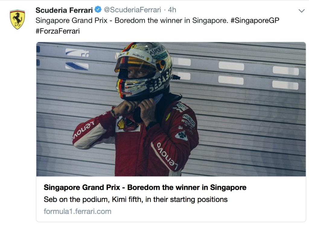 Pit Chat: Pass the salt, Ferrari