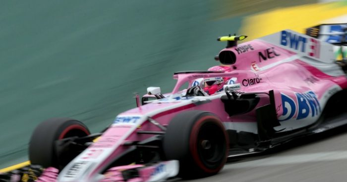 Esteban Ocon: Brazil grid drop