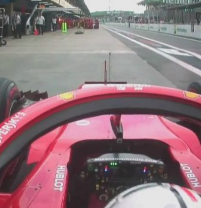 Sebastian Vettel: Loses his cool