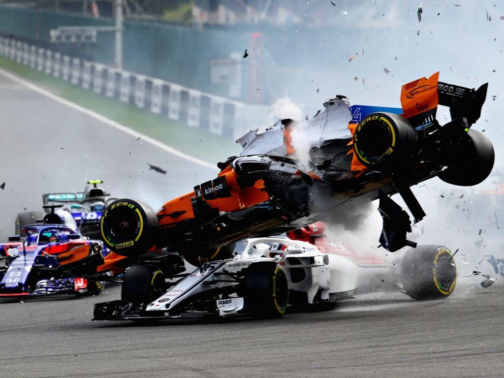 Charles Leclerc: Spa crash