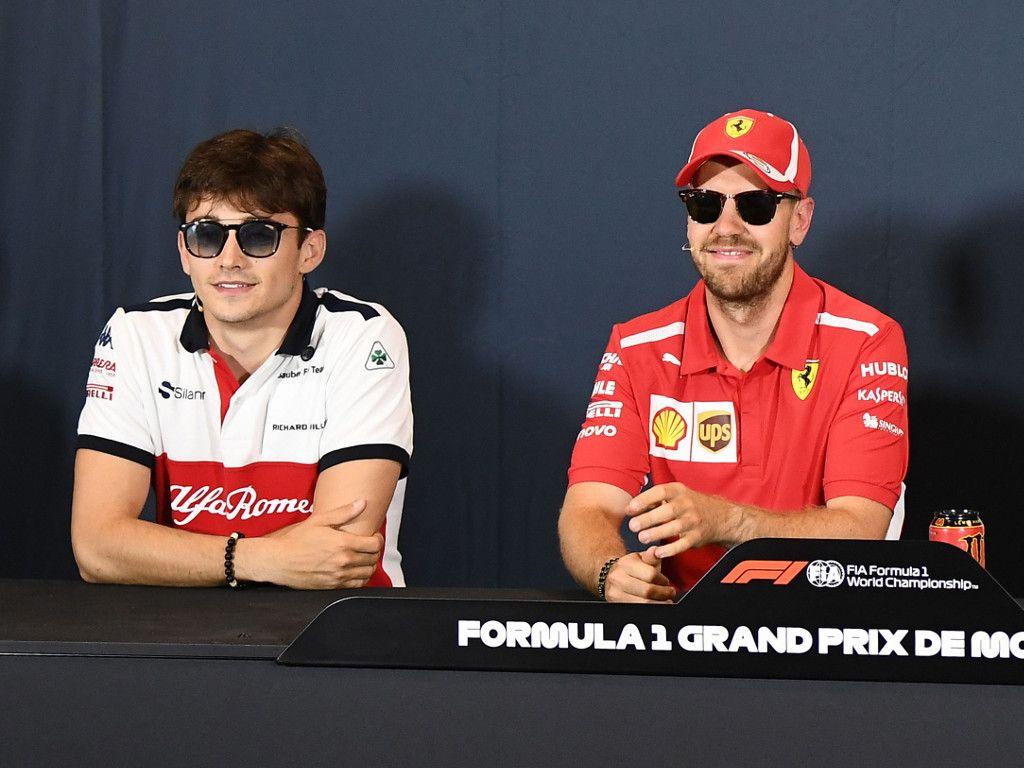 Sebastian Vettel: Talks Charles Leclerc