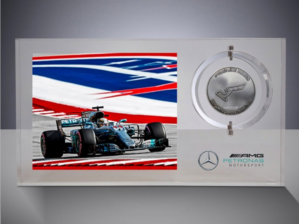 Lewis Hamilton race win medals