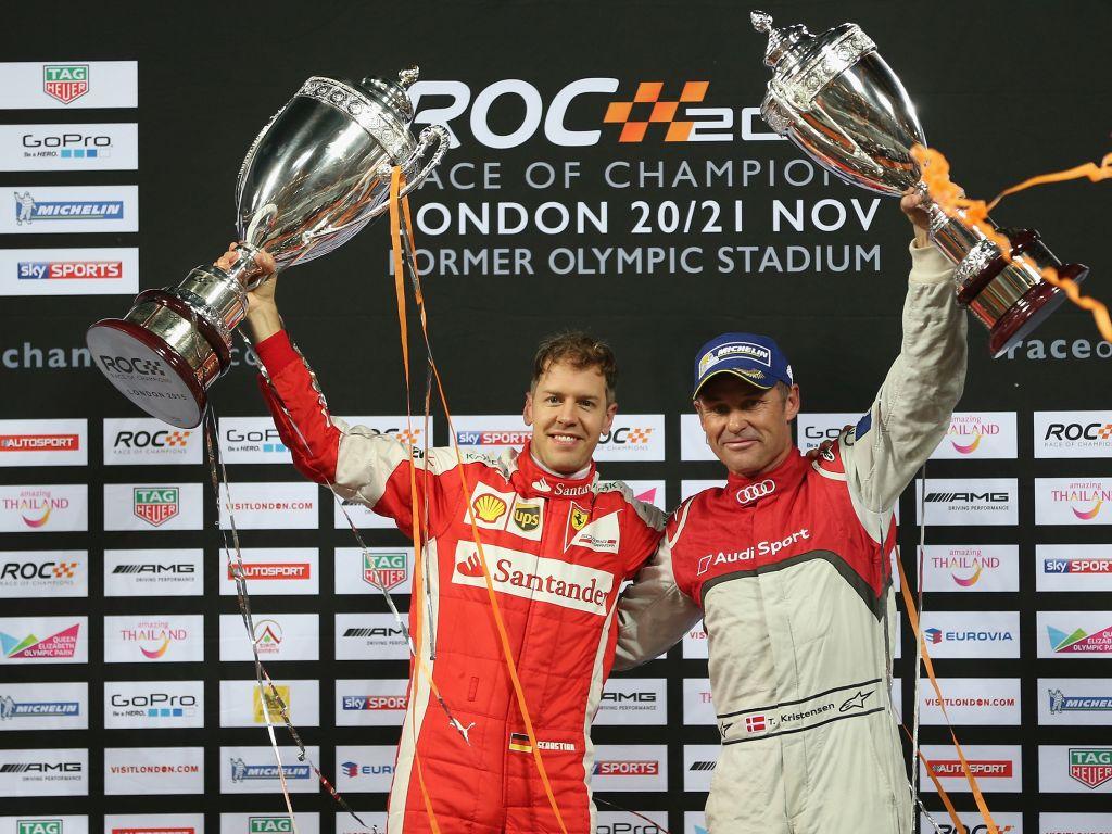 Sebastian Vettel and Tom Kristensen