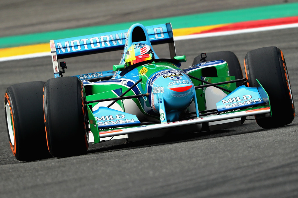 Mick Schumacher in his father's Benetton