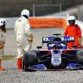 Alex Albon pulls a Kimi as testing resumes