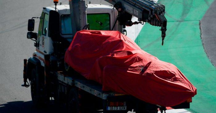 Sebastian Vettel: Crashes in Barcelona