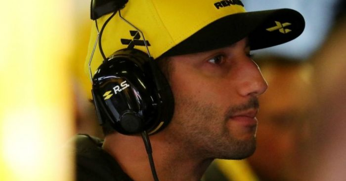Daniel Ricciardo denies running from a fight with Max Verstappen.