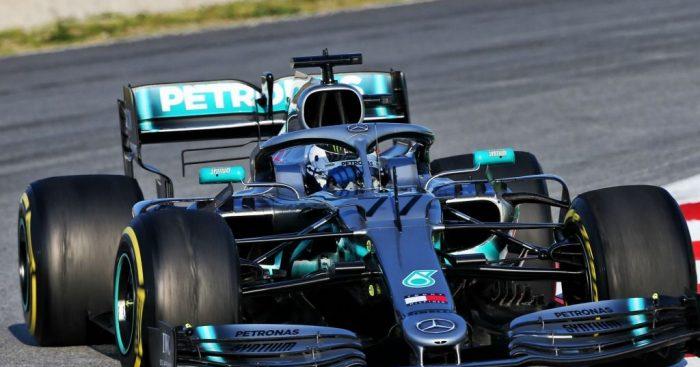 Valtteri Bottas: In action for Mercedes