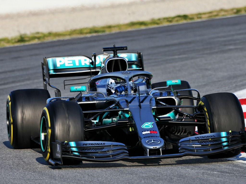 Valtteri Bottas: In action for Mercedes
