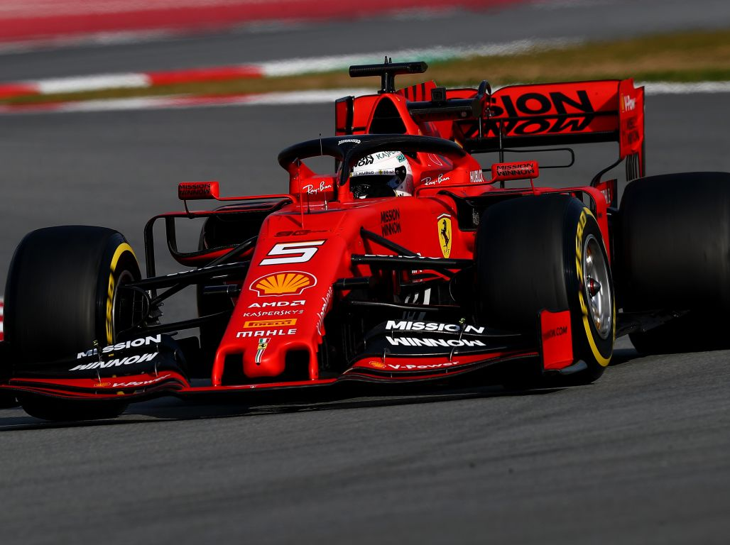 Sebastian Vettel ends the final morning of testing fastest.