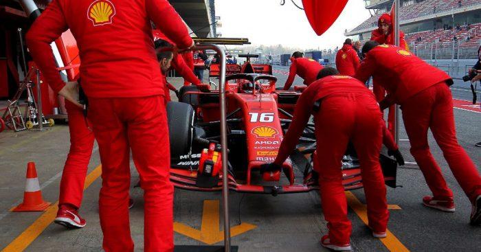 Ferrari: In action at Winter Testing