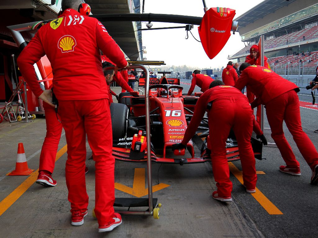 Ferrari: In action at Winter Testing