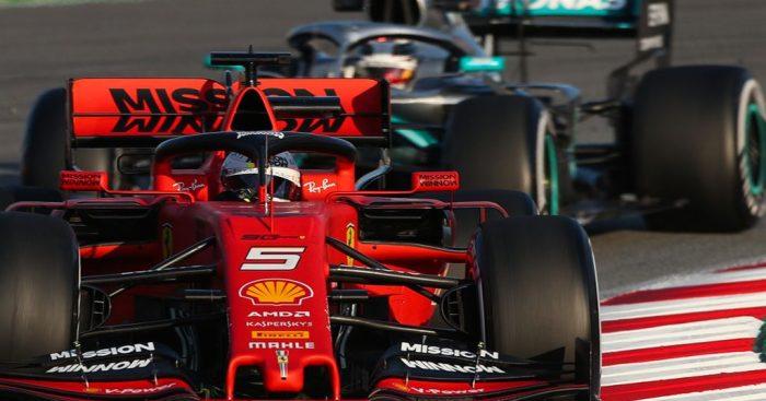 Mercedes look in a league of their own claims Sebastian Vettel.