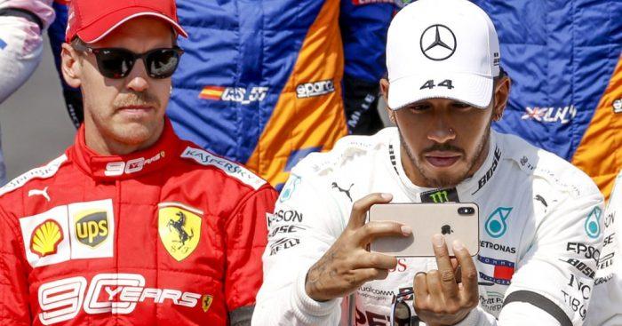 Sebastian Vettel feels Lewis Hamilton was 'playing' around