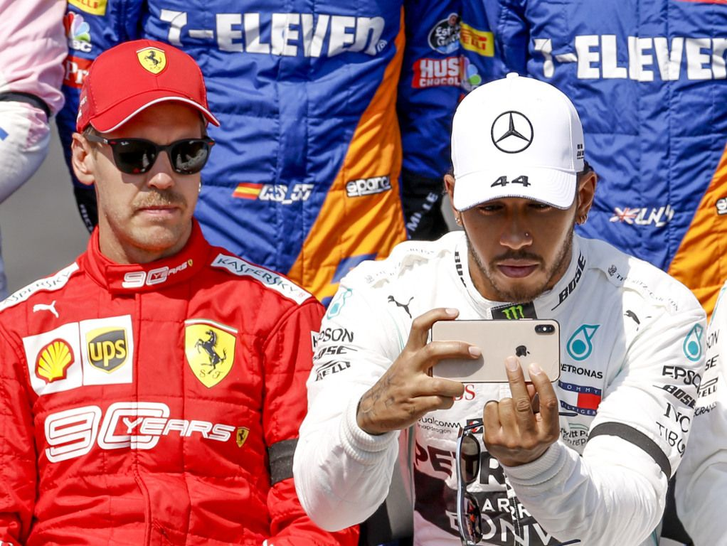 Sebastian Vettel feels Lewis Hamilton was 'playing' around