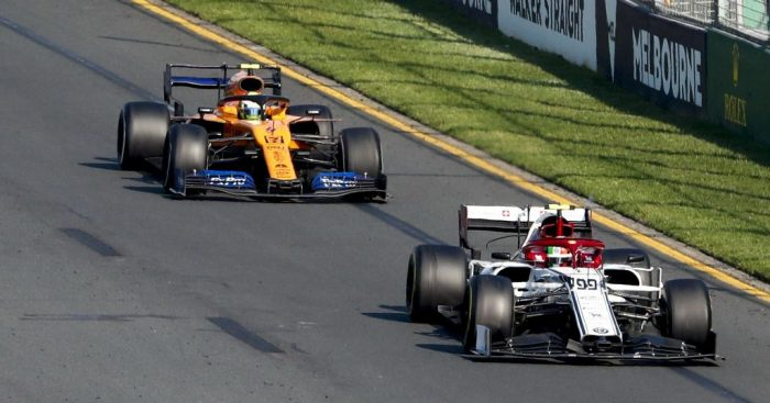 Gil de Ferran has defended Lando Norris after he slipped down the order in the Australian GP