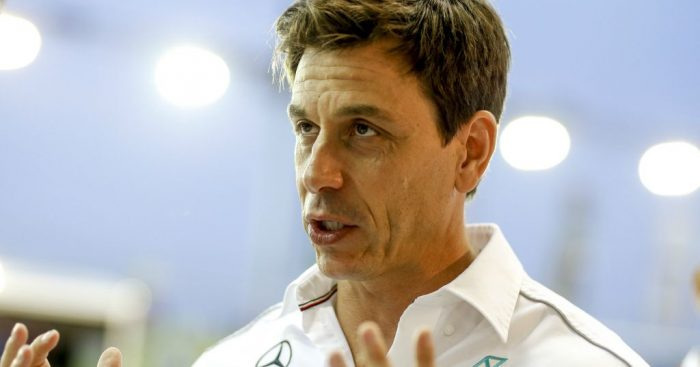 """Toto Wolff called Ferrari's power advantage on the straights in Bahrain """"enormous""""."""