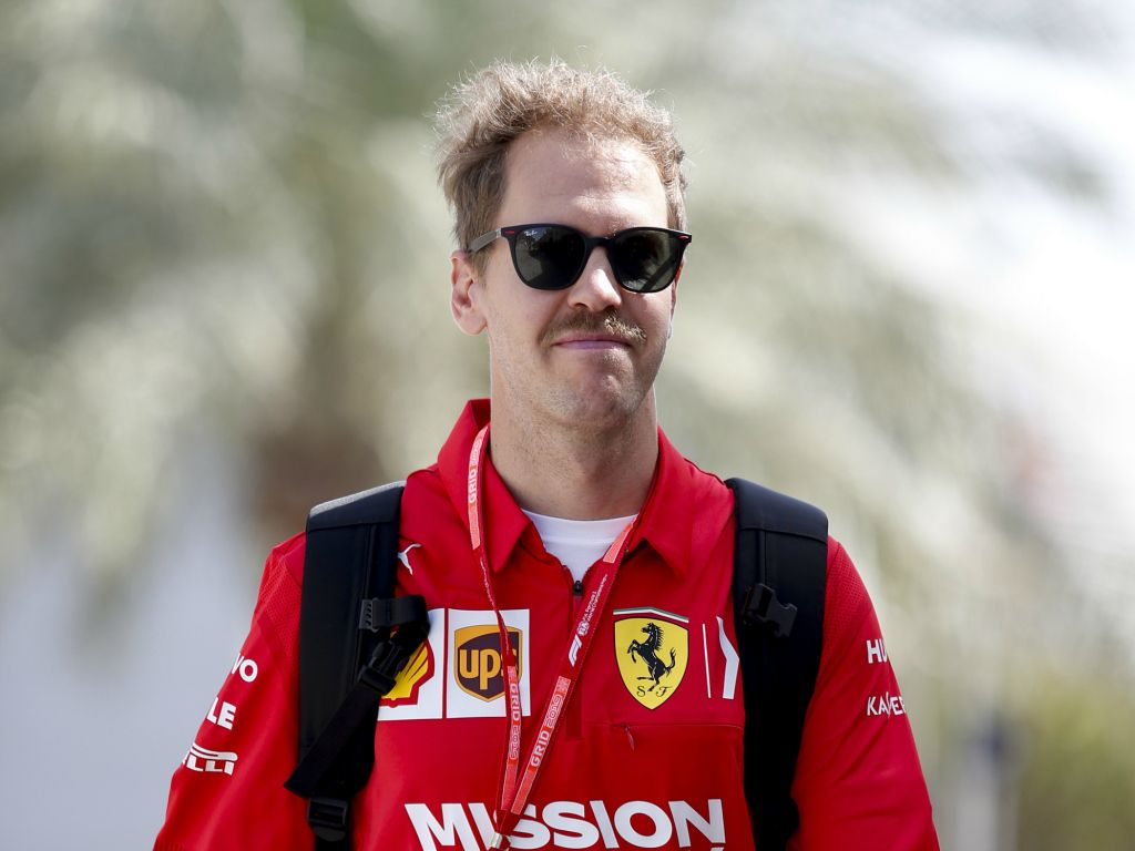 """Sebastian Vettel has warned people not to pay """"too much attention"""" after Ferrari finished over half a second ahead of Mercedes in FP2 of the Bahrain GP."""