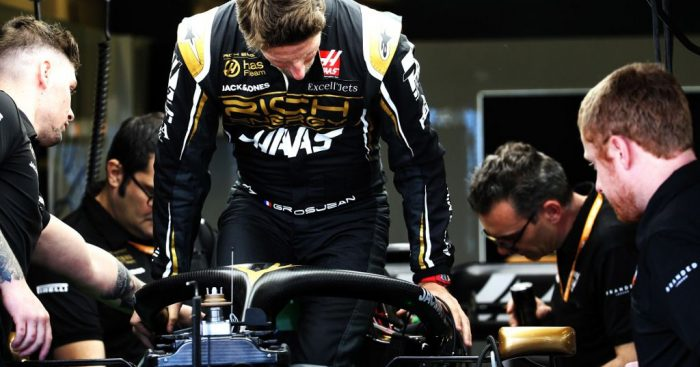 Romain Grosjean has been handed a three-place grid penalty for tomorrow's Bahrain Grand Prix.