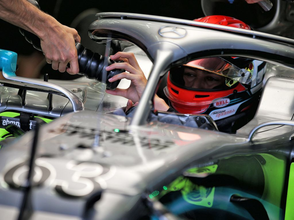 George Russell quickest in Bahrain test - for Mercedes