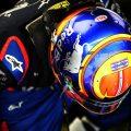 Alexander Albon head down helmet PA