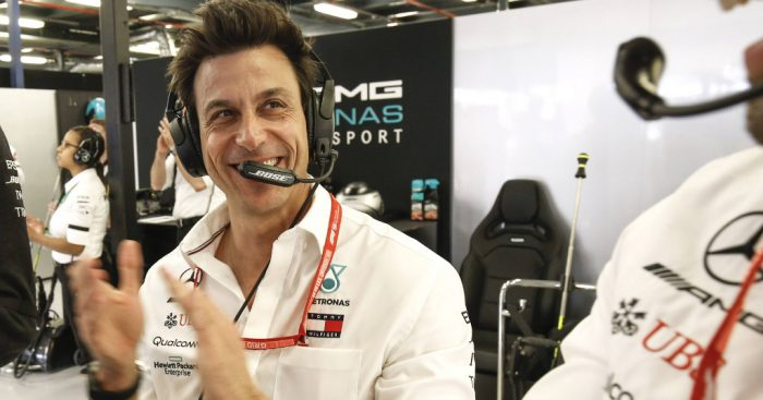 Toto Wolff 'laughs' off claims he calls Max Verstappen