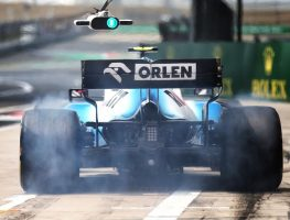 Red flag in FP1 at Azerbaijan GP after George Russell hits a loose drain cover.