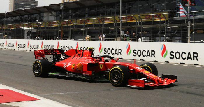 Charles Leclerc: Fastest in FP2 for Ferrari in Baku