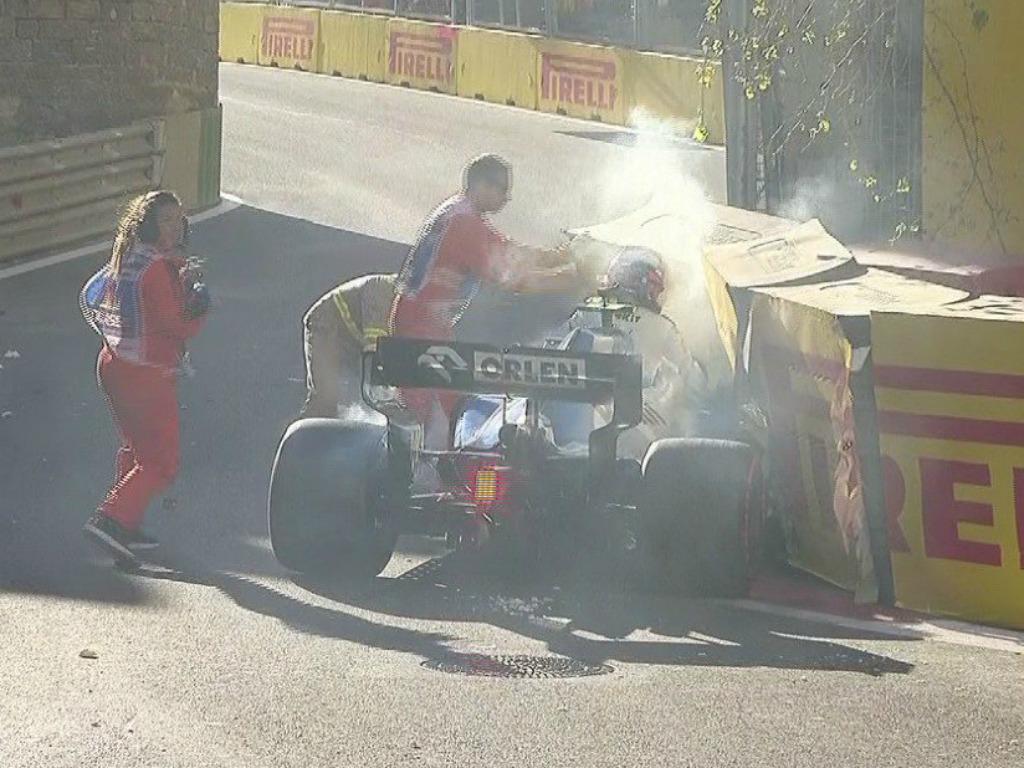 Robert Kubica: Crashes in Baku qualifying