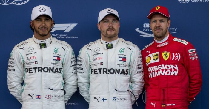 Top three qualifiers for the Azerbaijan Grand Prix.