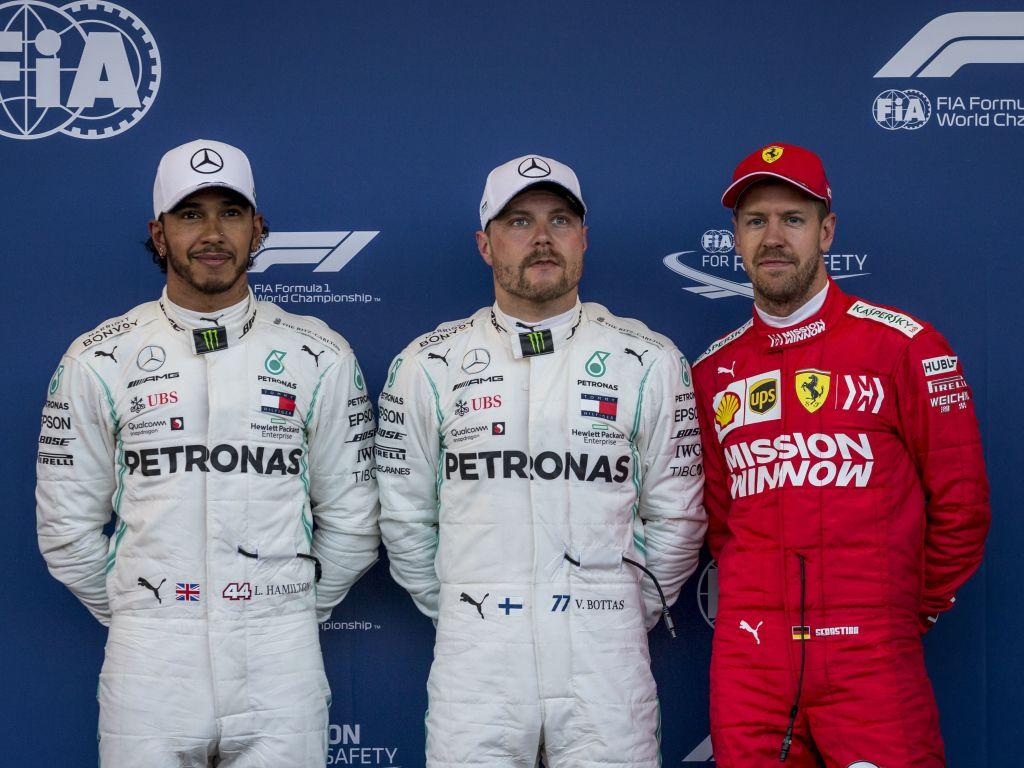Top three qualifiers for the Azerbaijan Grand Prix.