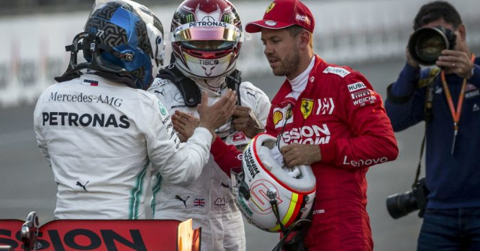 "Esteban Ocon expects Lewis Hamilton and Valtteri Bottas' battle to be a ""war"" until the end of the season."