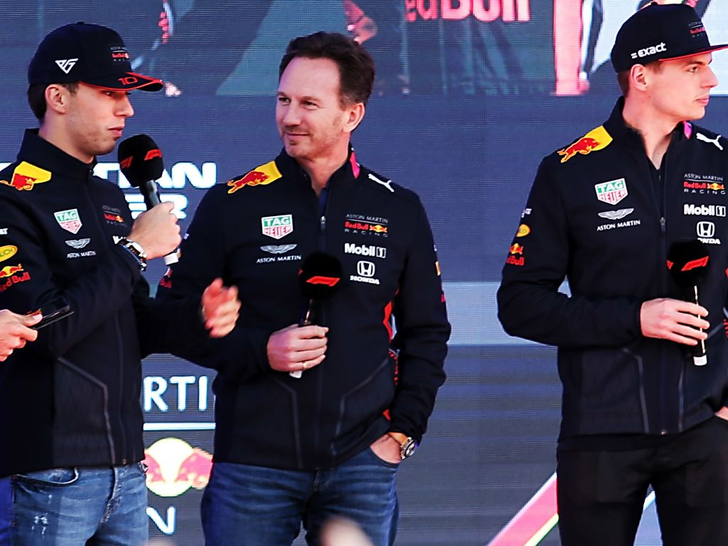 """Christian Horner believes Pierre Gasly is now """"coming out of his delicate period""""."""