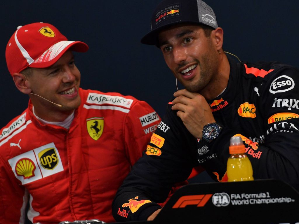 """Daniel Ricciardo said his first Red Bull season in 2014 was """"very easy"""" because there was no pressure on him going up against Sebastian Vettel."""