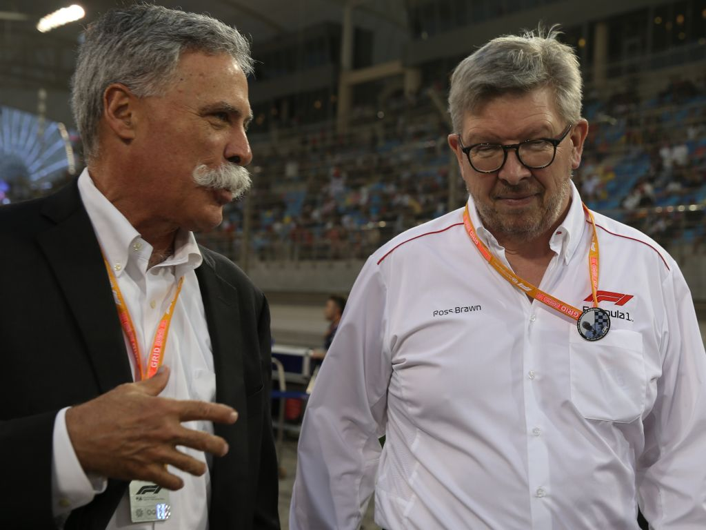 "Chase Carey says rescheduling the Chinese GP will be ""challenging""."